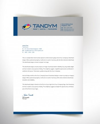 Letterheads | A lasting impression of your company